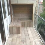 Balkonvloer steigerhout en zitje Bouwbedrijf Amsterdam Pattitechniek