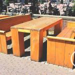 Steigerhout terras meubels Bouwbedrijf Amsterdam Pattitechniek