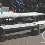Terras meubel hout en staal cafe vrienden amsterdam bouwbedrijf Pattitechniek 4